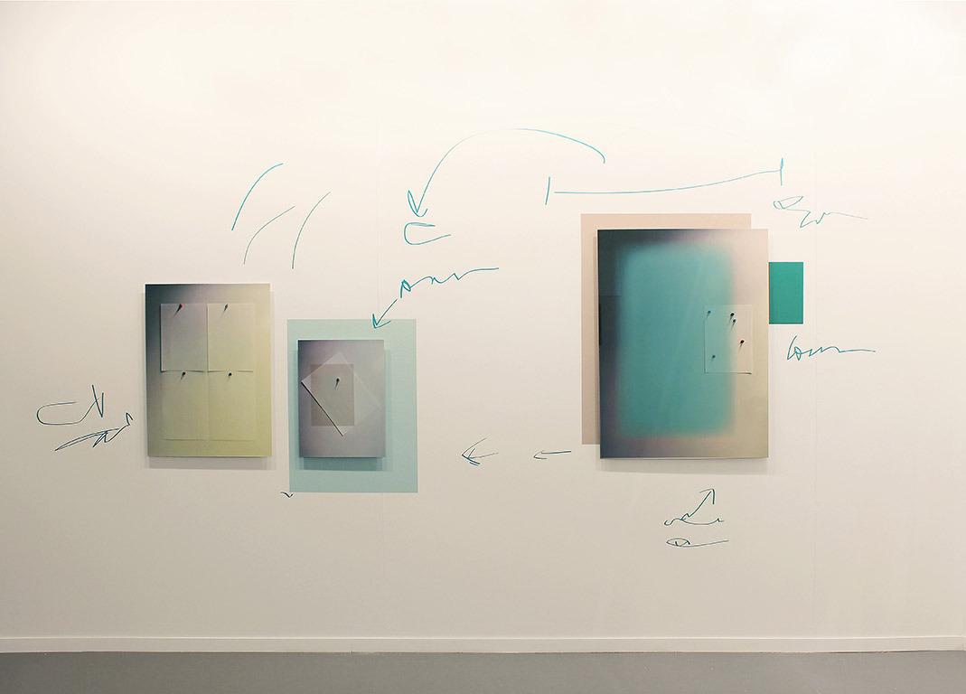 MZ, Dear P, Installation shot, Giclee prints mounted on aluminium, adhesive wall fabric and vinyl, 188 x 412 cm, 2018, small